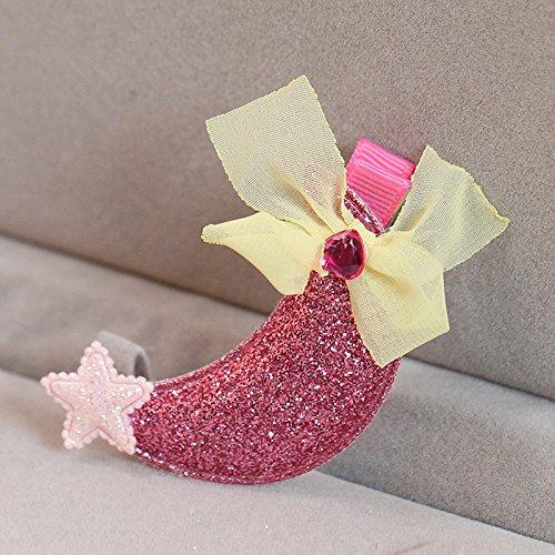 Tlue Tathtub nische Kinder Haare Bug Stoff Moon Star Pailletten Mädchen Liu Haijia Schmuck Haarnadel Haarnadel, Zwei, Rote Bohne (Bohne Kostüme)
