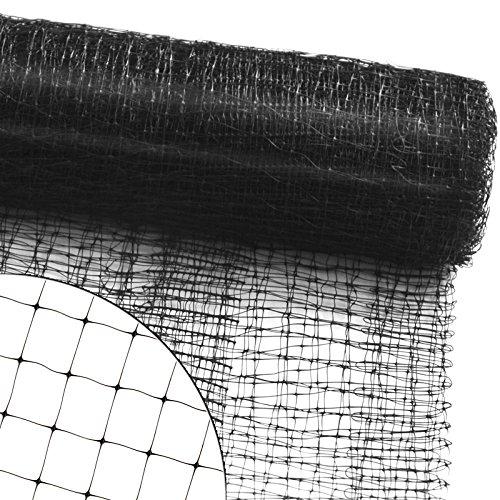 Abdecken von Bäumen, Sträuchern, Beeten | viele Größen | reißfestes Vogelnetz für Garten, Balkon oder Teich | Netz zum Schutz vor Vögeln | Maschenweite: 13 mm | schwarz | 4x10 m (Netz Für Obst Baum)