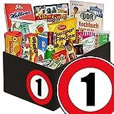 1. Hochzeitstag | Süße DDR Geschenk Box | mit Viba Nougat Stange, Mokkabohnen und mehr | GRATIS DDR Kochbuch | Süße Geschenke