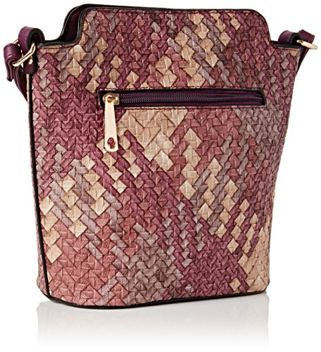 SwankySwansSally Weave Pu Leather Shoulder Bag Navy Blue - Borsa a tracolla donna Purple
