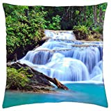 erawan waterfall - Throw Pillow Cover Case (18