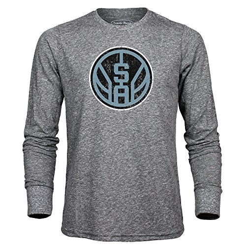 NBA San Antonio Spurs Herren Premium Triblend Long Sleeve Tee, Heather Grey, XXL (Antonio San Spurs-t-shirt)