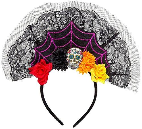 Widmann-Kopfbedeckung Dia de los Muertos Womens, mehrfarbig, One Size, vd-wdm09641 (Womens Dia De Los Muertos Kostüme)