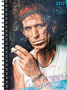 Terminplaner A5 Rolling Stones by Sebastian Krüger