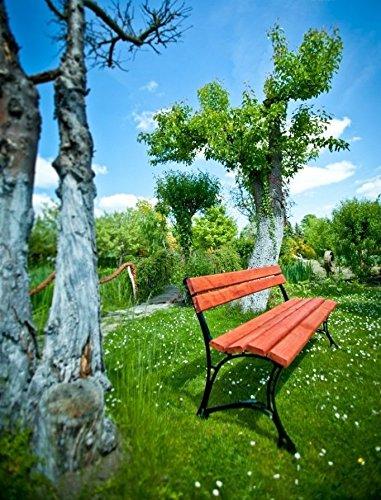 GOLD GARDEN Gartenbank TOSKANA Massivholz auf Aluminiumrahmen mahagoni in 2 Größen (150 cm - 3-Sitzer)