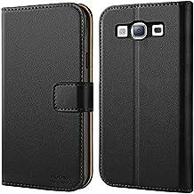 Galaxy S3 Hülle, HOOMIL Handyhülle Samsung Galaxy S3 / S3 Neo Tasche Leder Flip Case Brieftasche Etui Schutzhülle für Samsung S3 Cover - Schwarz (H3035)
