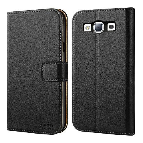 Galaxy S3 Hülle, HOOMIL Handyhülle Samsung Galaxy S3 / S3 Neo Tasche Leder Flip Case Brieftasche Etui Schutzhülle für Samsung S3 Cover - Schwarz (H3035) Galaxy S3 Handy Cover Leder