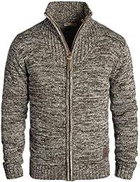 SOLID Herren Pomeroy Strickjacke Cardigan mit Stehkragen aus 100% Baumwolle