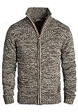 !Solid Pomeroy Herren Strickjacke Cardigan Grobstrick Winter Pullover mit Stehkragen, Größe:XXL, Farbe:Coffee Bean (5973)