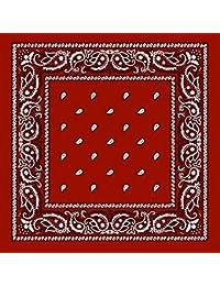 Foulard Bandana Mode Paisley USA Rouge - Accessoire Tendance Vintage