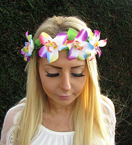 Rainbow-orqudea-flores-hawaianas-guirnalda-accesorio-para-la-cabeza-tocado-para-el-pelo-1740-Exclusivamente-Se-Vende-por-STARCROSSED-Beauty
