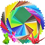 JUSLIN 300 Blätter in 50 Farben einseitig Origami Papier