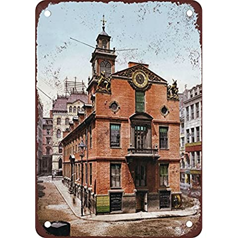 1900Old State House Boston Look Vintage Riproduzione