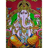 Beautiful Shree Ganesh Tapestry Poster for Wall Hanging Room Wall Lounge Decor Tapestry 40 X 30 inches