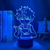 Tatapai Hunter X Hunter Killua LED Lamp for Kids Room Decoration Hxh LED Night Light Anime Gift Acrylic Neon Lamp 3D Killua C