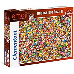 Clementoni-39388 Emoji Puzzle 1000 Piezas (39388)