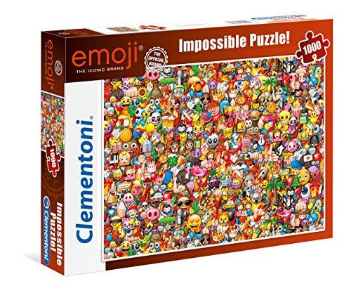 "Clementoni 39388.6 - Puzzle ""Unmöglich - Emoji"", 1000 Teile"