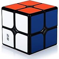 Speed Cube 2x2 2x2x2 Magic Puzzle Cube de Vitesse Magique Cadeau de Vacances pour Enfants Adultes (Autocollants PVC)