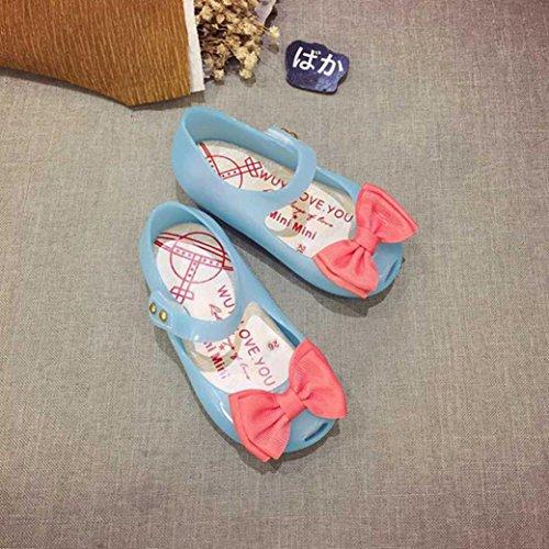 Clode® Nette Kleinkind Baby Kinder leuchtende Gelee Sandalen beleuchtete Soft-Soled Prinzessin Schuhe Blue