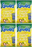 (4 PACK) - Goodies Goodies Cheese & Herb Curly Puffs (12+)   6 X 15g   4 PACK - SUPER SAVER - SAVE MONEY