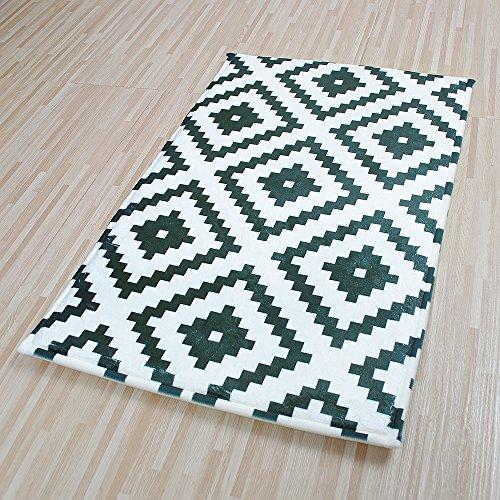 Yazi schwarz weiß Mosaics Fußmatten Streifen Indoor Outdoor Mats Home Dekoration 40x 60cm