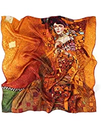 7a6bceb232741 Prettystern - Soie Serviettes 90cm x 90cm art nouveau print neckerchief art  peintre Gustav Klimt -