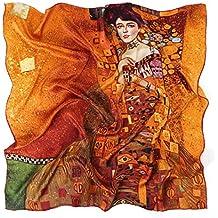 dc3b4e6bf4f5 Prettystern - Soie Serviettes 90cm x 90cm art nouveau print neckerchief art  peintre Gustav Klimt -