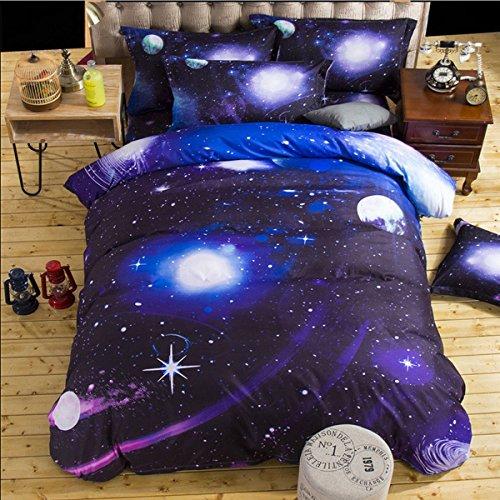 Universo Galaxy Star Theme Pattern Bedding Set Singolo - 1