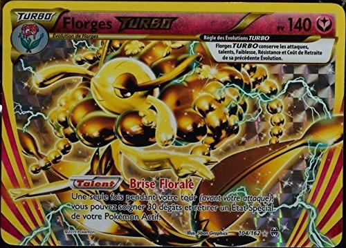 Pokémon Karte 104/162 FLORGES TURBO HOLO REVERSE 140 PV-Reihe XY IMPULSON XY8-TURBO Selten Neu DE