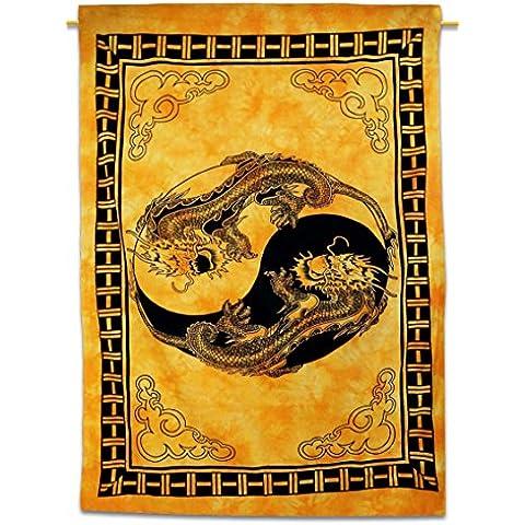 Handicrunch Wall Hanging Drago Doppia Dimensione Bohemian Tapestry Hippie Wall Art 84X56 regalo indiano