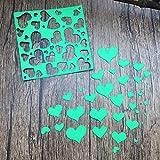 Stanzmaschine Stanzschablone,sunnymi Kreis Herz Blume DIY Dekor Sammelalbum Karten Buchzeichen Lesezeichen als Geschenk Für Freunde Geburtstag 83*83mm