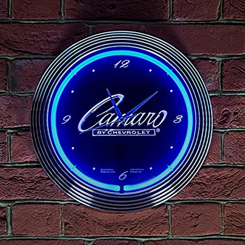 CHEVROLET CAMARO CLOCK - Real Neon (not LED)