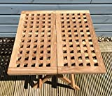 Garden Coffee Table Square - Teak Wood - Folding Picnic Table Patio
