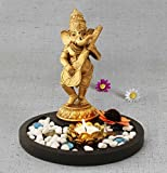 #7: TiedRibbons® Golden Ganesha playing Sitar Ganesha idol for gifting | diwali gift items | home decorative items in puja room