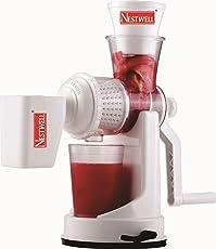 Vepson Nestwell Plastic Vegetable Fruit Hand Juicer (White)