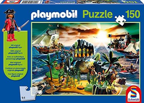 Schmidt Spiele Playmobil: Pirateninsel 150pieza(s) - Rompecabezas (Jigsaw Puzzle, Juguete, Niños, Playmobil, Niño/niña, 8 año(s))