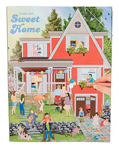 Preisvergleich Produktbild Depesche 5374 - Malbuch Create your Sweet Home mit Stickern