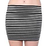 Black Silver Stripe Skirt