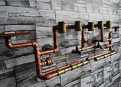 BD-Kreative Retro große Eisen Wasser Rohrdekoration Wand Lampe Bar Thema Restaurant Weinregal Dekoration Lampen