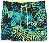 O'Neill Jungen Thirst to surf Boardshorts Bademode Badeshorts, Black AOP W/Green, 176