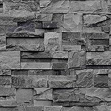 Amazon Fr Papier Peint Brique Noir