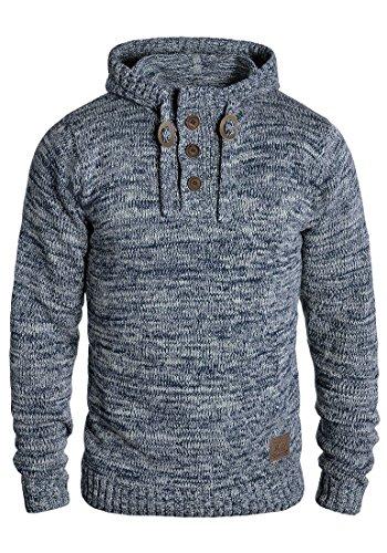 !Solid Philon Herren Winter Pullover Strickpullover Kapuzenpullover Grobstrick Pullover mit Kapuze, Größe:S, Farbe:Insignia Blue (1991)