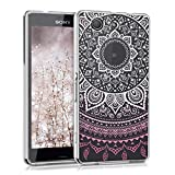 kwmobile Sony Xperia Z3 Compact Hülle - Handyhülle für Sony Xperia Z3 Compact - Handy Case in Pink Weiß Transparent