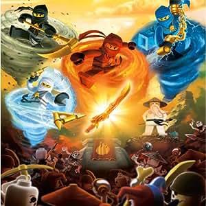 Lego Ninjago (24inch x 24inch / 60cm x 60cm) Silk Print Poster - Soie Affiche - FA9F31
