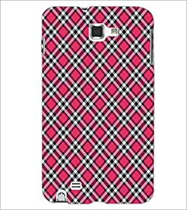 SAMSUNG GALAXY NOTE 1 N7000 SQUARE PATTERN Designer Back Cover Case By PRINTSWAG
