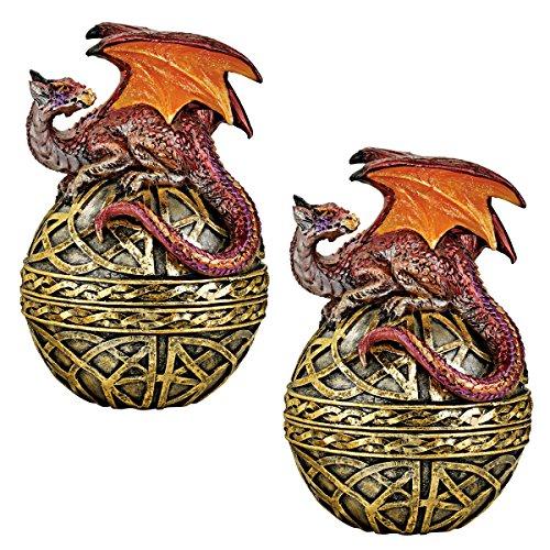 Design Toscano JQ96479 Halloween Statue der keltischen OrbShield Drache,Mehrfarbig