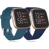 Ouwegaga Compatibel met Fitbit Versa Bandje/Fitbit Versa 2 Bandje, Zachte Siliconen Sport Vervangings Bandjes Compatibel met
