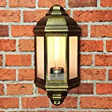 Elegante Schiffsleuchte Schiffslampe Antik Gold Aluguss Außenlampe