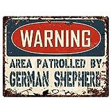 Warnung Bereich 'von deutschen Schäferhund