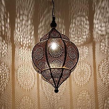 Noir Luminaire Marocaine 50cm Lampe Malhan Douille Suspension E14 SzVUGMqp